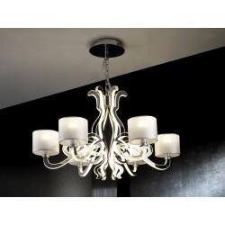 LAMPARA ·ALMA· 6L+LED CROMO