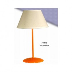SOBREMESA NARANJA PANTALLA LISA MARFIL