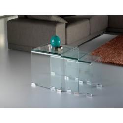 MESAS NIDO ·GLASS· TRANSPTE.