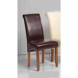 SILLA POLIPIEL MARRON 101*60*47