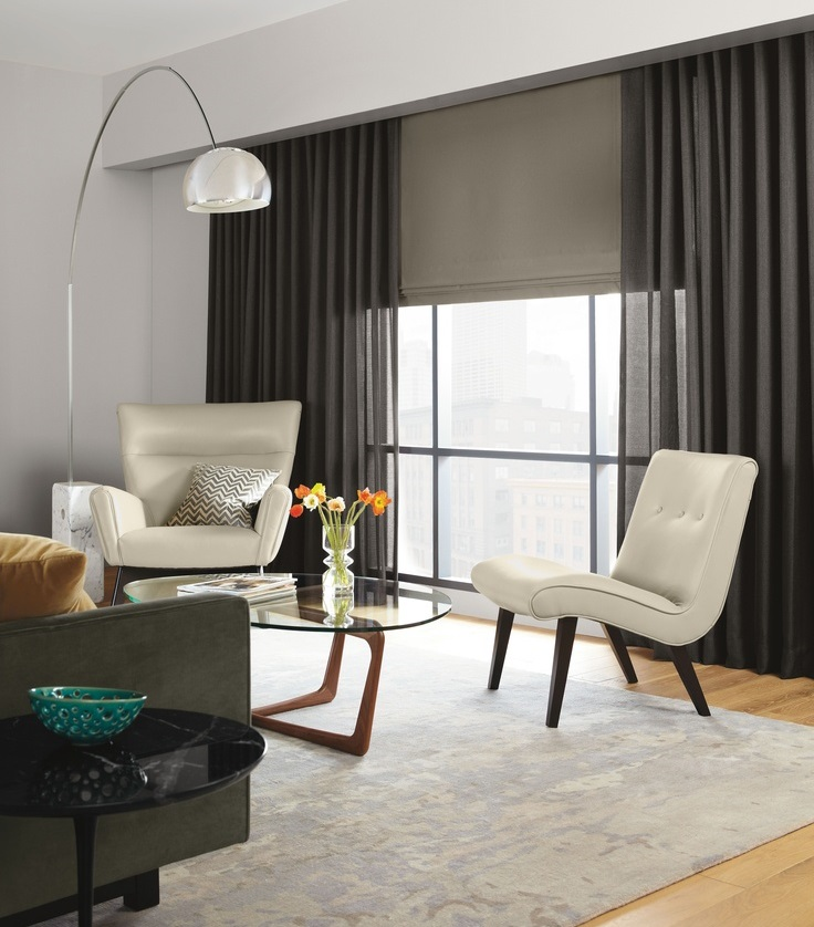 Cortinas actuales para salon doble cada en el saln aade a tus cortinas unos visillos para - Cortinas actuales para salon ...